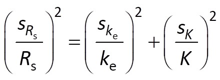Rs error propagation from ke-K model