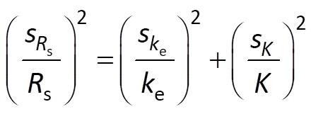 Rs error propagation from ke-K model